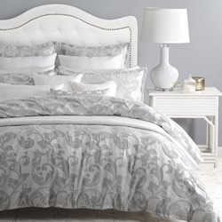 Serenade Silver Quilt Cover Set