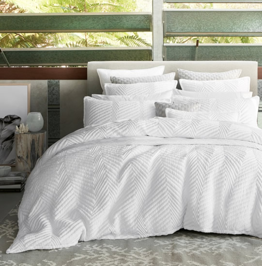 Super King Quilt Cover Set In Tux White By Private