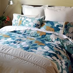 Arabesque Teal Quilt Cover Set