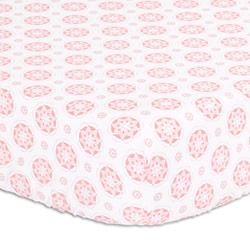 Coral Medallion Cot Fitted Sheet