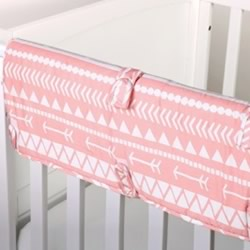 Coral Tribal Cot Rail Guard