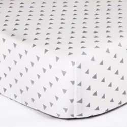 Grey Triangles Cot Fitted Sheet