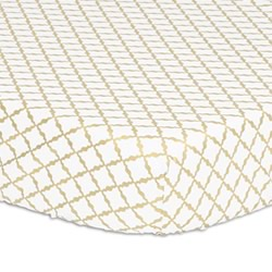 Gold Lattice Cot Fitted Sheet