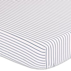 Navy Lines Cot Fitted Sheet