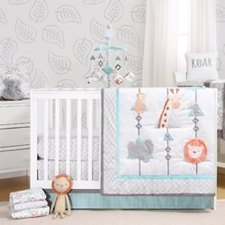 Safari Adventure 5 Piece Nursery Set