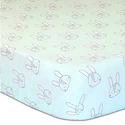 Snowball Mint Cot Fitted Sheet