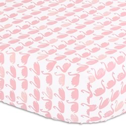 Sweet Swan Cot Fitted Sheet