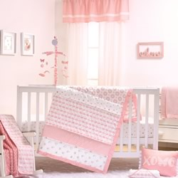 Sweet Swan Cot Set And Quilt