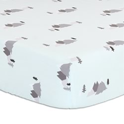 Alpine Mint Cot Fitted Sheet
