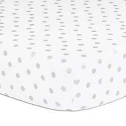 Alpine Silver Dot Cot Fitted Sheet