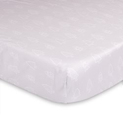 Grey Trees Cot Fitted Sheet