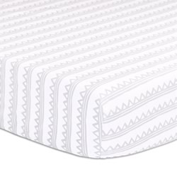 Zig Zag Grey Cot Fitted Sheet