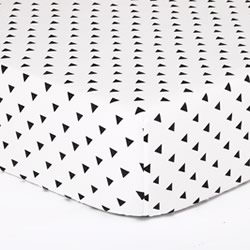 Black Triangle Cot Sheet