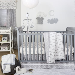 Grey Clouds Nursery Set