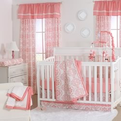 Coral Medallion Nursery Set