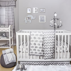 Grey Elephant Nursery Set