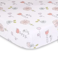Flora Print Cot Fitted Sheet