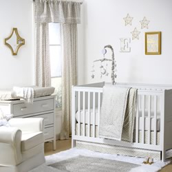 Gold Confetti Nursery Set