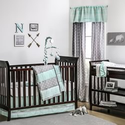 Mint Arrow Stripe Nursery Set