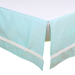 Mint Cot Dust Ruffle