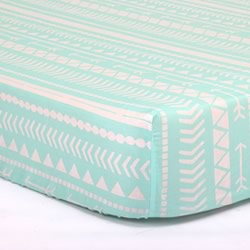 Mint Tribal Cot Sheet