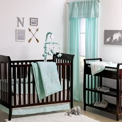 Mint Tribal Nursery Set