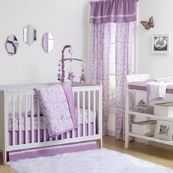 Purple Rose Nursery Set