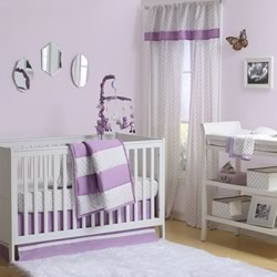 Purple Triangle Nursery Set