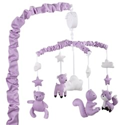 Purple Woodland Musical Mobile