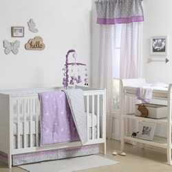 Purple Woodland Nursery Set