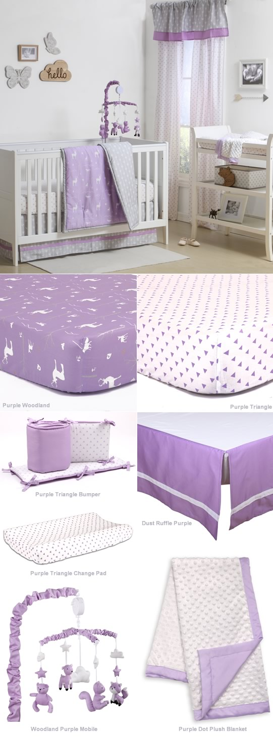 Purple Woodland By Peanut Shell Cottonbox