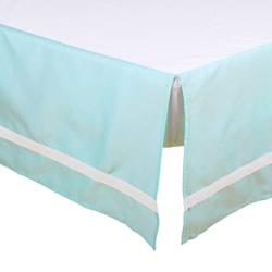 Teal Solid Cot Dust Ruffle