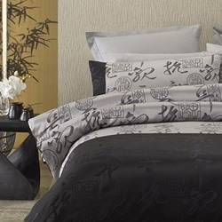 Kobe Black Silver Quilt Cover Set