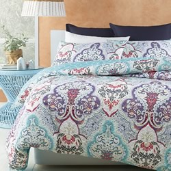 Tanaya Turquoise Quilt Cover Set