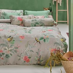 Floris Khaki Quilt Cover Set