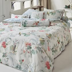 Floris White Quilt Cover Set