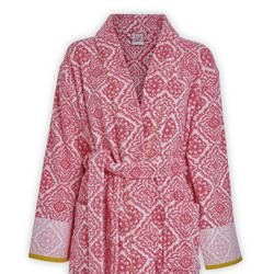 Jacquard Check Pink Bath Robes