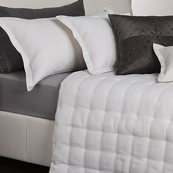 Ascot White Coverlet