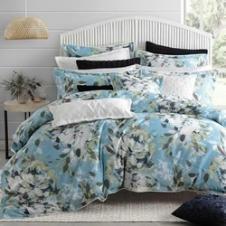 Jessica Blue Quilt Cover Set