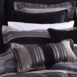 Jett Charcoal European Pillowcase
