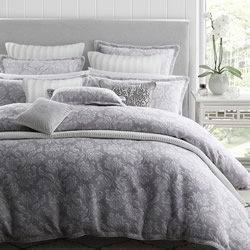Thea Silver Quilt Cover Set