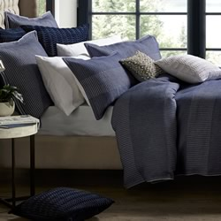 Tier Navy Quilt Cover Set