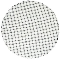 Grey Gingham Reversible Round Play Mat