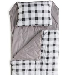 Grey Gingham Nap Mats