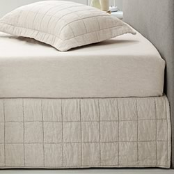 Abbotson Flax Quilted Bed Skirt