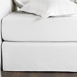 Abbotson White Plain Bed Skirt