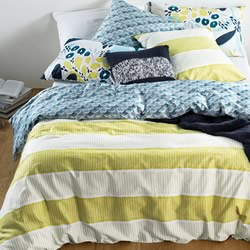 Branson Golden Olive Quilt Cover Set