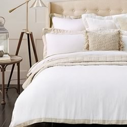 Ekard White Quilt Cover Set