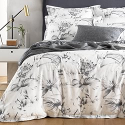 Ivona Charcoal Quilt Cover Set
