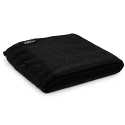 Mohair Black Throw